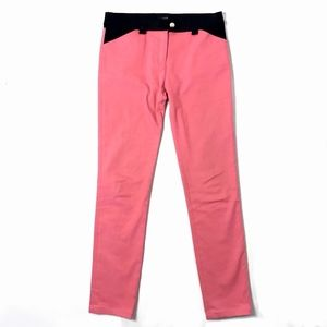BALENCIAGA Pant Colorblock Jeans Fitted Pink Black